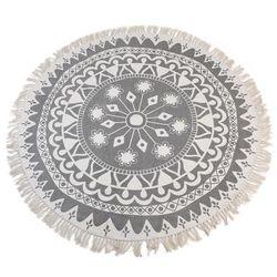 Dywan Boho Light Grey z frędzlami Ø150cm - wzór 3 - wzór 3