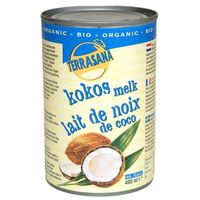 Mleczko kokosowe 400ml -  (80% kokosa) eko bez gumy guar marki Terrasana