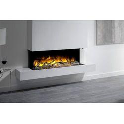 Kominek do montażu ściennego flamerite fires iona 1000 cb z nadbudową. efekt płomienia nitra flame led - 20 kolorów -promocja marki Flamerite fires - nowość 2021
