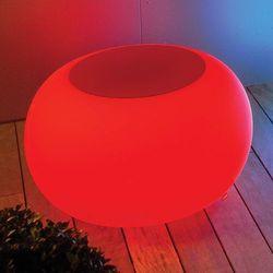 Stół BUBBLE, światło LED RGB i czerwony filc (4260218361973)
