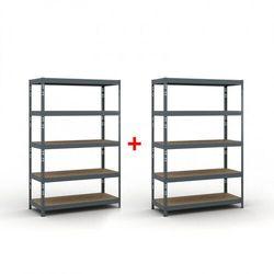 Regał półkowy 1800 x 1200 x 500 mm, nośność 280 kg 1+1 GRATIS