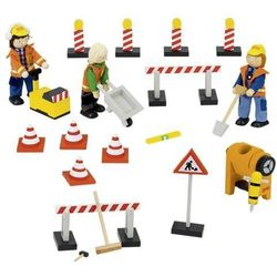 Znaki drogowe, Drewniane kukiełki i akcesoria do zabawy w teatr - produkt z kategorii- pacynki i kukiełki
