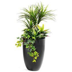 Kompozycja roślinna z donicą, czarny
