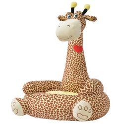 Vidaxl  fotel dla dzieci żyrafa, pluszowy, brązowy (8718476010189)