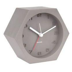 Karlsson:: Budzik Hexagon Concrete szary - szary, kolor szary