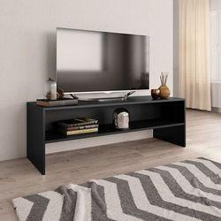 vidaXL Szafka pod TV, czarna, 120 x 40 x 40 cm, płyta wiórowa (8719883671987)
