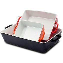 3 el. żaroodporne naczynia ceramiczne do zapiekania / 06-001 marki Royalty line