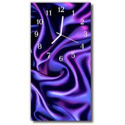 Zegar Szklany Pionowy Aksamit płótno purpurowy, kolor fioletowy