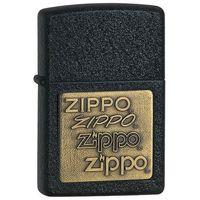 Zapalniczka Zippo Brass Emblem, Black Crackle