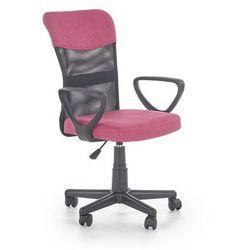 Krzesło dziecięce timmy różowo-czarny marki Halmar