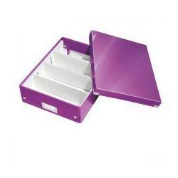 Esselte Pudło z przegródkami leitz c&s średnie fioletowe