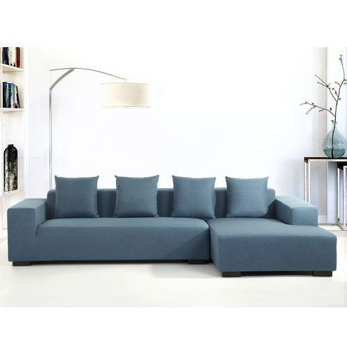 Sofa niebieska -  narozna L - tapicerowana - LUNGO, marki Beliani do zakupu w Beliani