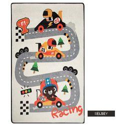 SELSEY Dywan do pokoju dziecięcego Dinkley Wyścigi 140x190 cm (5903025555461)