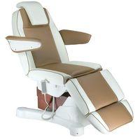 Elektryczny fotel kosmetyczny Napoli BG-207B biało - brązowy