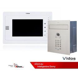 Zestaw jednorodzinny wideodomofonu VIDOS. Skrzynka na listy z wideodomofonem. Monitor 7'' S561D-SKP_M323W