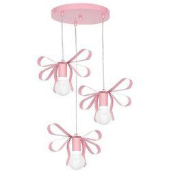 Milagro Dziecięca lampa wisząca emma mlp 1040 dekoracyjna oprawa kaskada zwis kokardki jasnoróżowe (5902693746508)