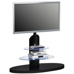 Stojak, wieszak, stolik na telewizor czarny, szkło 16369947 marki Maja-möbel