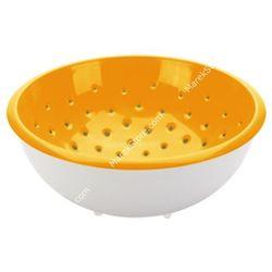Tescoma Cedzak z misą - średnica o 28 cm pojemność 5 litrów    vitamino - odcienie pomarańczowego