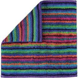 Dywanik łazienkowy stripes 60 x 60 cm kolorowy ciemny marki Cawo