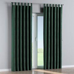 Dekoria zasłona na szelkach 1 szt., ciemny zielony, 1szt 130 × 260 cm, velvet