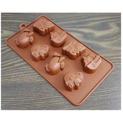 FORMA SILIKONOWA czekoladki ciastka autka pojazdy