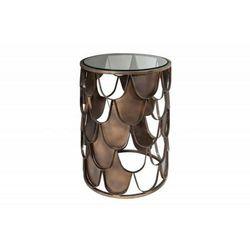 INVICTA stolik kawowy ABSTRACT 40 antik - rybia łuska, szkło, metal