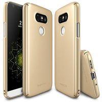 ETUI FUETAŁ RINGKE SLIM LG G5 - Złoty