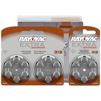 66 x baterie do aparatów słuchowych  extra advanced 312 mf, marki Rayovac