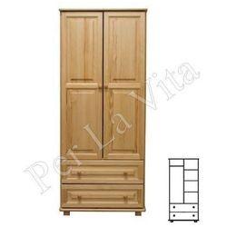 Szafa drewniana D2 Nr4 WIESZAK/PÓŁKI