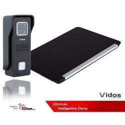 Vidos Zestaw wideodomofonu stacja bramowa z szyfratorem monitor 7'' s6b_m690bs2
