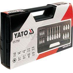 Zestaw kluczy trzpieniowych torx 18 cz / YT-7751 / YATO - ZYSKAJ RABAT 30 ZŁ