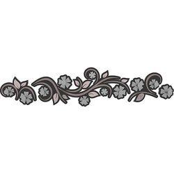 Calleadesign Wieszak ścienny flowers  szara śliwka