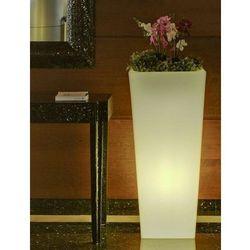 NEW GARDEN donica MELISA 50 C biała - LED (5900000047317)
