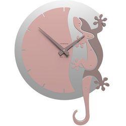 Zegar ścienny Geko Climbing CalleaDesign antyczny-różowy, kolor różowy