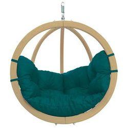 Fotel hamakowy drewniany, Zielony Globo chair