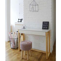 Womeb Konsola biała z szufladą des5/1 w stylu skandynawskim