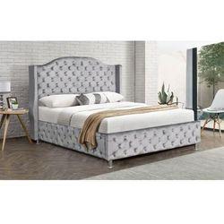 Meblemwm Łóżko tapicerowane do sypialni 180x200 sf908 szary welur