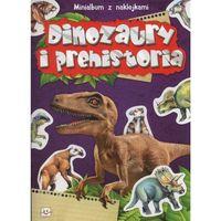 Minialbum z naklejkami - Dinozaury i prehistoria + zakładka do książki GRATIS (16 str.)