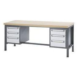 Rau Stół warsztatowy z płytą mdf,6 szuflad, wys. 4 x 150, 2 x 180 mm