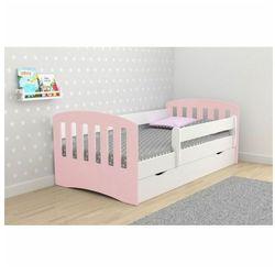 Łóżko dla dziewczynki pinokio 2x mix 80x140 - pudrowy róż marki Producent: elior