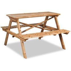vidaXL Stół piknikowy bambusowy 120x120x78 cm