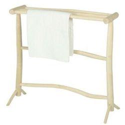 Wieszak na ręczniki z 3 drążkami BADA – lite drewno tekowe – kolor naturalny