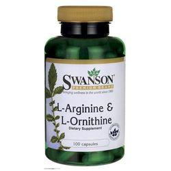 Swanson L-Arginina & L-Ornityna 100 kaps. - sprawdź w wybranym sklepie
