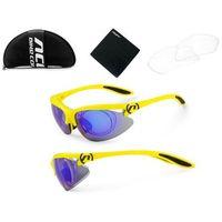Accent 610-40-246_acc okulary onyx żółte fluoro, soczewki pc: niebieskie lustrzane, przezroczyste przydymio