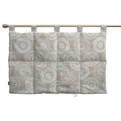 Dekoria  wezgłowie na szelkach, lniano-beżowe koła, 90 x 67 cm, rustica