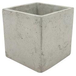 Osłonka doniczki kwadratowa wewnętrzna 16 cm szary beton (5905925076732)