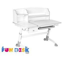 Amare II Grey Drawer - Ergonomiczne, regulowane biurko dziecięce z nadstawką i szufladą FunDesk, FD-amare-ii-grey-nadst-szufl