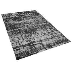 Beliani Dywan czarno-biały 140 x 200 cm krótkowłosy dafni (7105274852706)