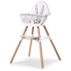 Childwood wysokie krzesełko dla dziecka 2-w-1 evolu 2, białe,chevochnw (5420007137786)