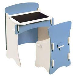 biureczko i krzesło - błękitne dla dzieci, marki Kidsaw